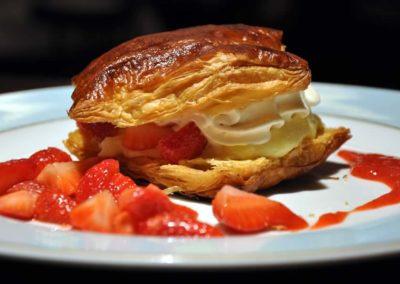 Feuilleté aux fraises, Comptoir Saint-Sébastien