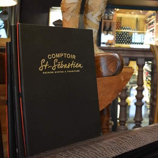 La carte du Comptoir Saint Sébastien
