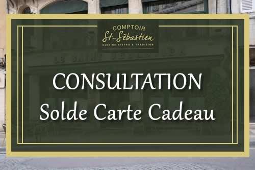 Solde carte cadeau Comptoir Saint Sébastien - Nevers
